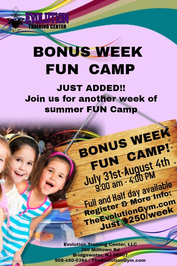 2017 Bonus Camp Week