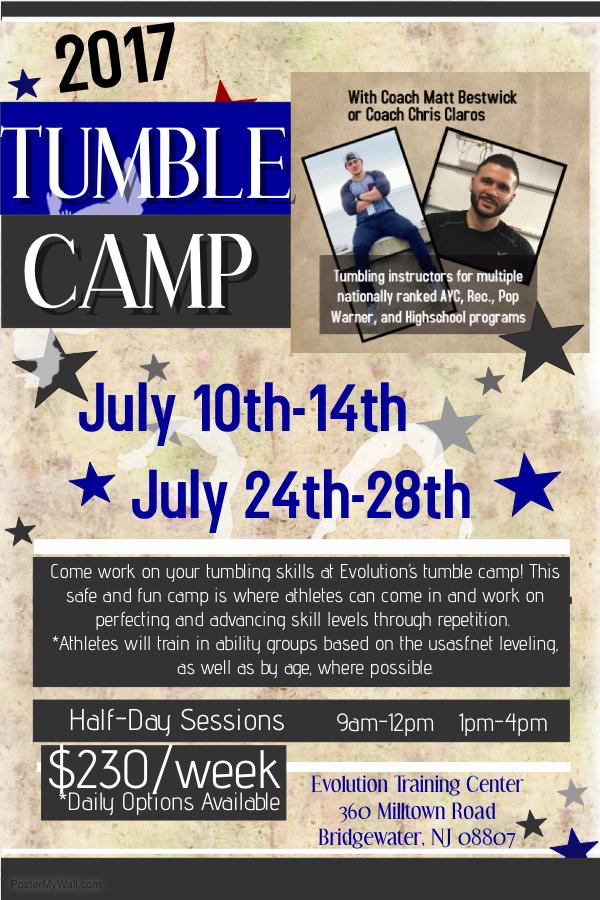 tumble camp 17